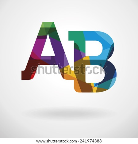 Colorful logo template. Vector illustration. - stock vector