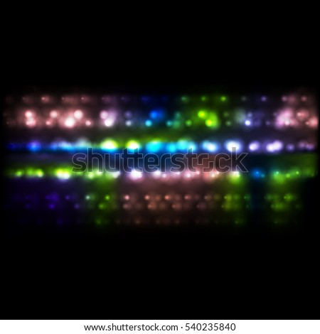 Colorful luminous bokeh festive abstract background. Glowing light vector design