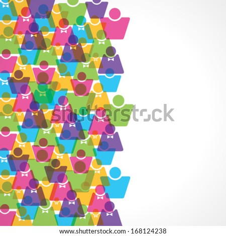 Colorful male and female background stock vector - stock vector