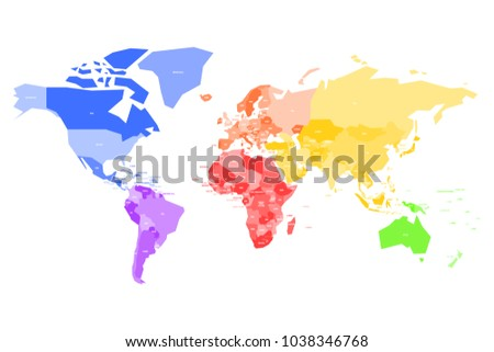 World map with country names stock images royalty free images colorful map of world simplified vector map with country name labels gumiabroncs
