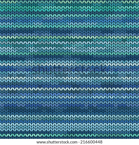 Colorful melange knitted seamless pattern  - stock vector