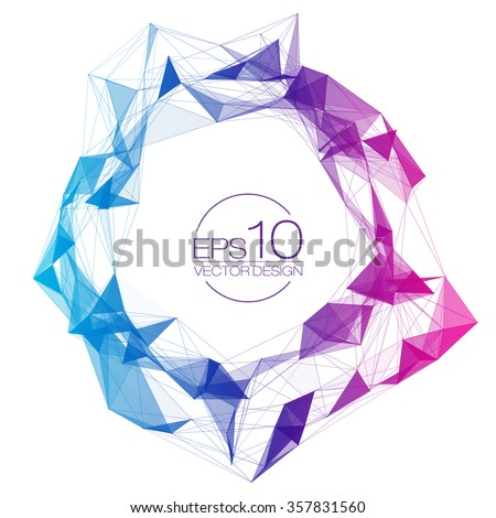 Colorful Mesh Vector Background | EPS10 Design - stock vector