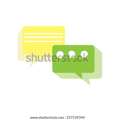 Colorful Message Icon on the White Background - stock vector