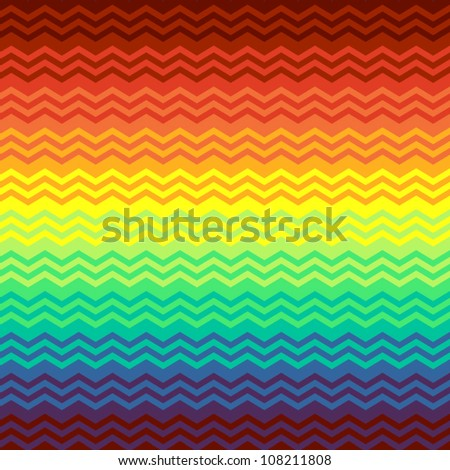 Colorful mexican blanket zigzag chevron seamless background, vector - stock vector
