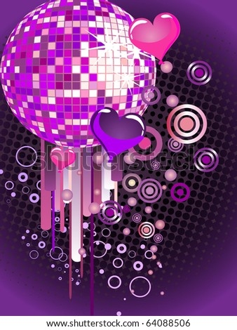 colorful mirror ball - vector - stock vector