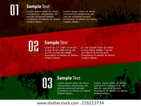 colorful modern design old paper text box template for website graphic technology and internet , labels, numbers.  - stock vector