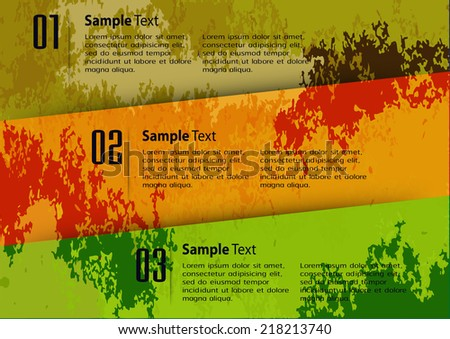 colorful modern design old paper text box template for website graphic technology and internet , labels, numbers.