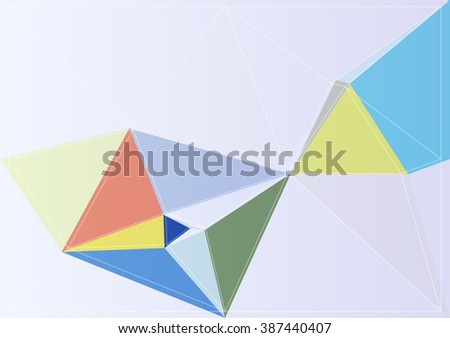 colorful modern geometry style background mosaic backdrop