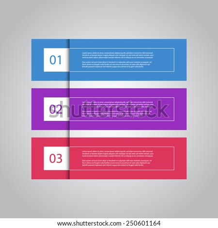 Colorful modern numbered banners, can be used for for tutorial / advertising / infographics. - stock vector