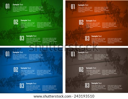 colorful modern old paper text box template for website computer graphic technology and internet, numbers.  - stock vector