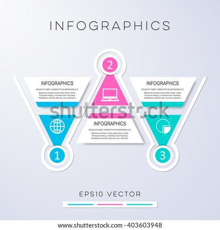 Colorful modern options banners infographic vector design triangles - stock vector