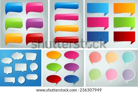 colorful modern speech bubble text box stock vector 236307949