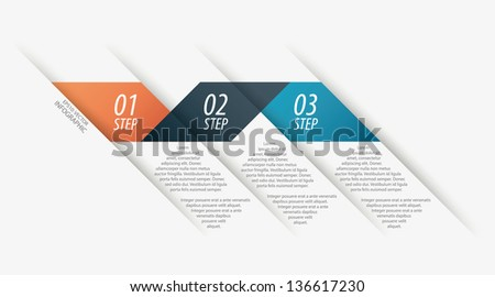 Colorful modern step origami style options banner line. Vector illustration. - stock vector