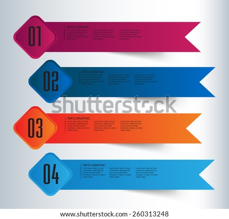 colorful modern text box template for website computer graphic and internet, numbers. label. banner. card. blue dark blue orange
