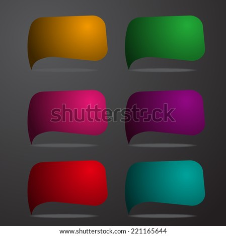 colorful modern text box template for website computer graphic and internet, numbers. label, speech bubble