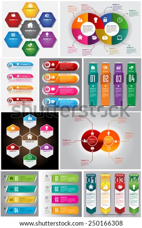 colorful modern text box template for website computer graphic and internet, numbers. Set of color frames for text or quotes. brochure. many, various