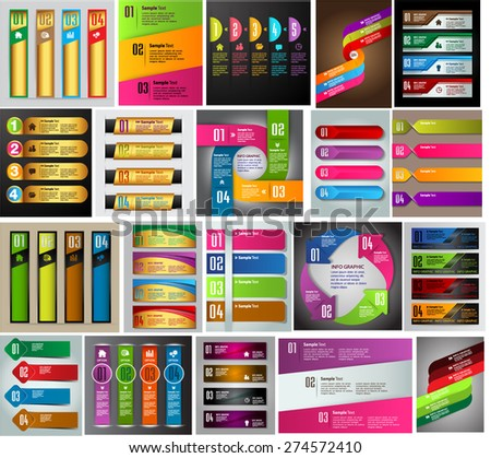 colorful modern text box template for website computer graphic and internet, numbers. Set of color frames for text or quotes. brochure. many, various. Brochure. card. flyer magazine. Design label. - stock vector