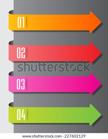 Colorful Modern Text Box Template For Website Graphic And Business Arrow