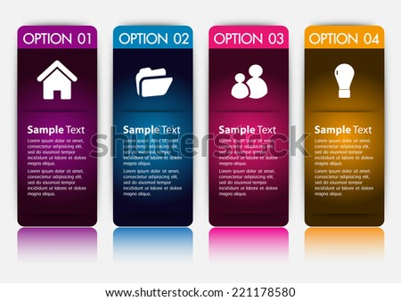 colorful modern time line text box template for website computer graphic and internet, numbers. label.  - stock vector