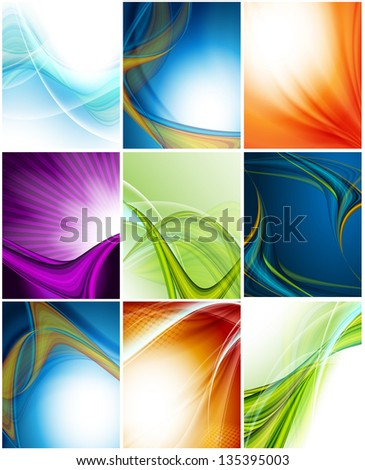 colorful modern vector collection of template with copy space. Eps10