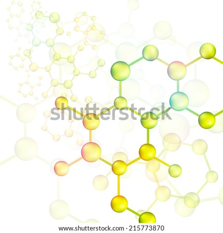 Colorful molecule bond background, create by vector - stock vector