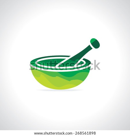 colorful mortar and pastel vector illustration - stock vector