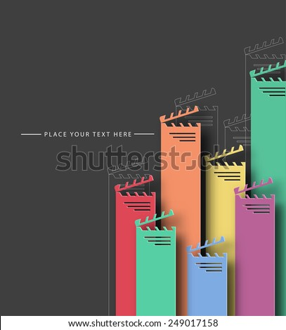 Colorful Movie Background - Vector Design Concept  - stock vector