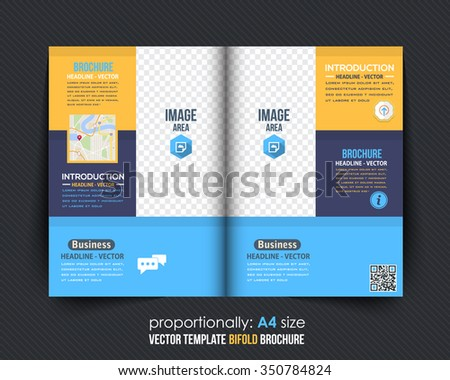 Colorful Mulipurpose Bi-Fold Brochure Design. Corporate Leaflet, Cover Template - stock vector