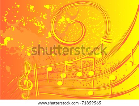 Colorful music - stock vector