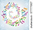 Colorful music background. - stock photo