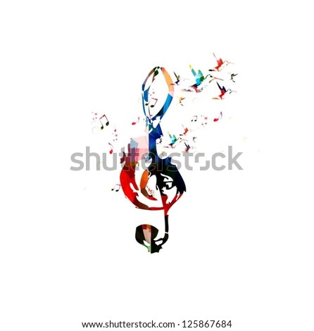 Colorful music background vector - stock vector