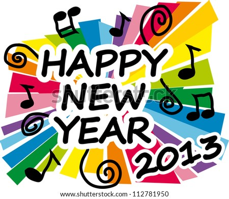 Colorful new year 2013 party illustration - stock vector