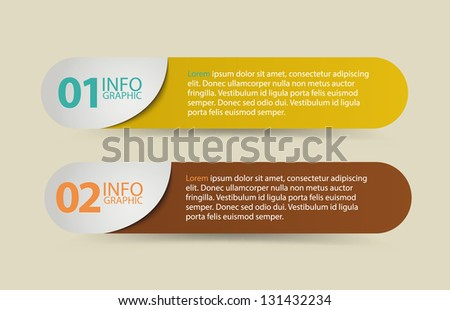 Colorful Option Buttons. Used for workflow layout, diagram, number options, web design. - stock vector