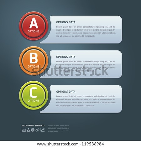 Colorful Options Banner template. Vector illustration - stock vector