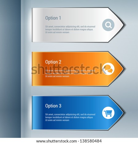 Colorful options banners infographics. Vector eps 10.