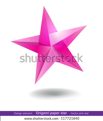 Colorful origami star for web and graphic design - stock vector