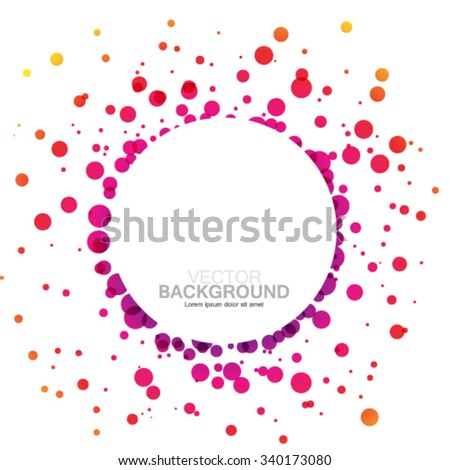 Colorful Overlapping Circles Design Background - stock vector