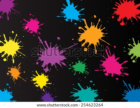 Colorful paint splat .Paint splashes for design use.Vector illustration. - stock vector