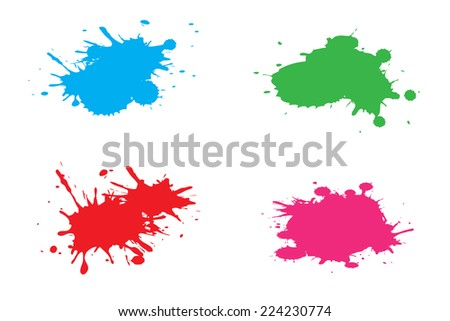 Colorful paint splat .Vector illustration. - stock vector