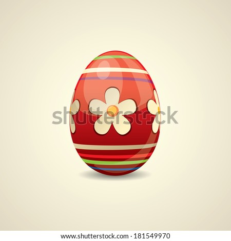 Colorful painted Easter egg - stock vector