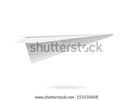 Colorful paper airplane. Vector illustration - stock vector