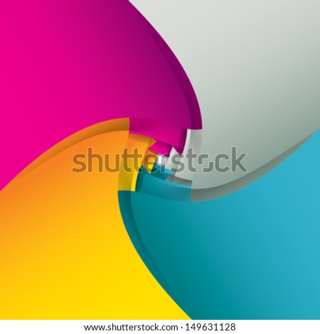 Colorful paper background - stock vector