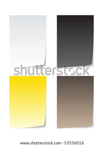colorful paper for message, brown, white, yellow and black