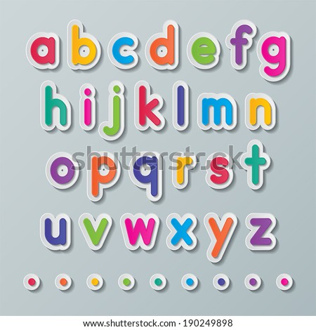 Z Alphabet Images colorful paper small alphabet letters a to z fonts. vector. - stock ...