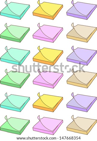 Colorful paper sticky notes - stock vector