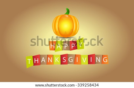Colorful paper tags or labels with stylize text for Happy Thanksgiving. - stock vector