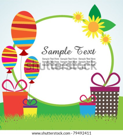colorful party background - stock vector