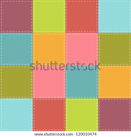 colorful patchwork background - stock vector