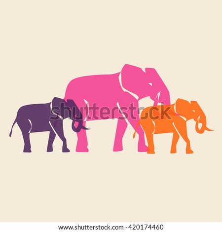 Colorful pattern african animals - stock vector