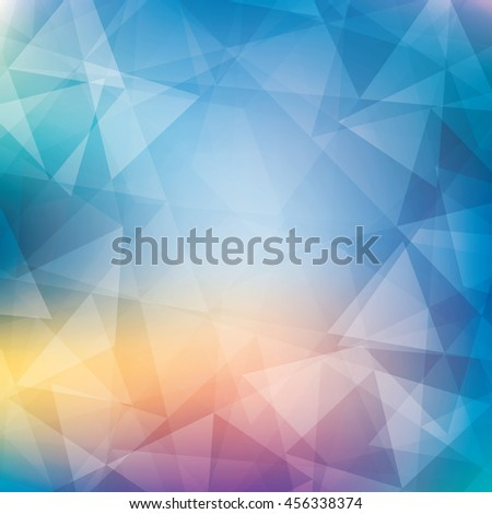 Colorful pattern textured by triangles. Subtle pattern. Blue pattern with triangles. CMYK. Triangles background. Blue pattern with triangles. Blue vector background with golden glow. CMYK colors - stock vector